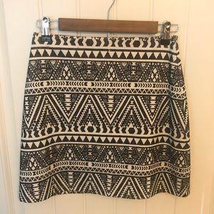 Geometric Mini Skirt